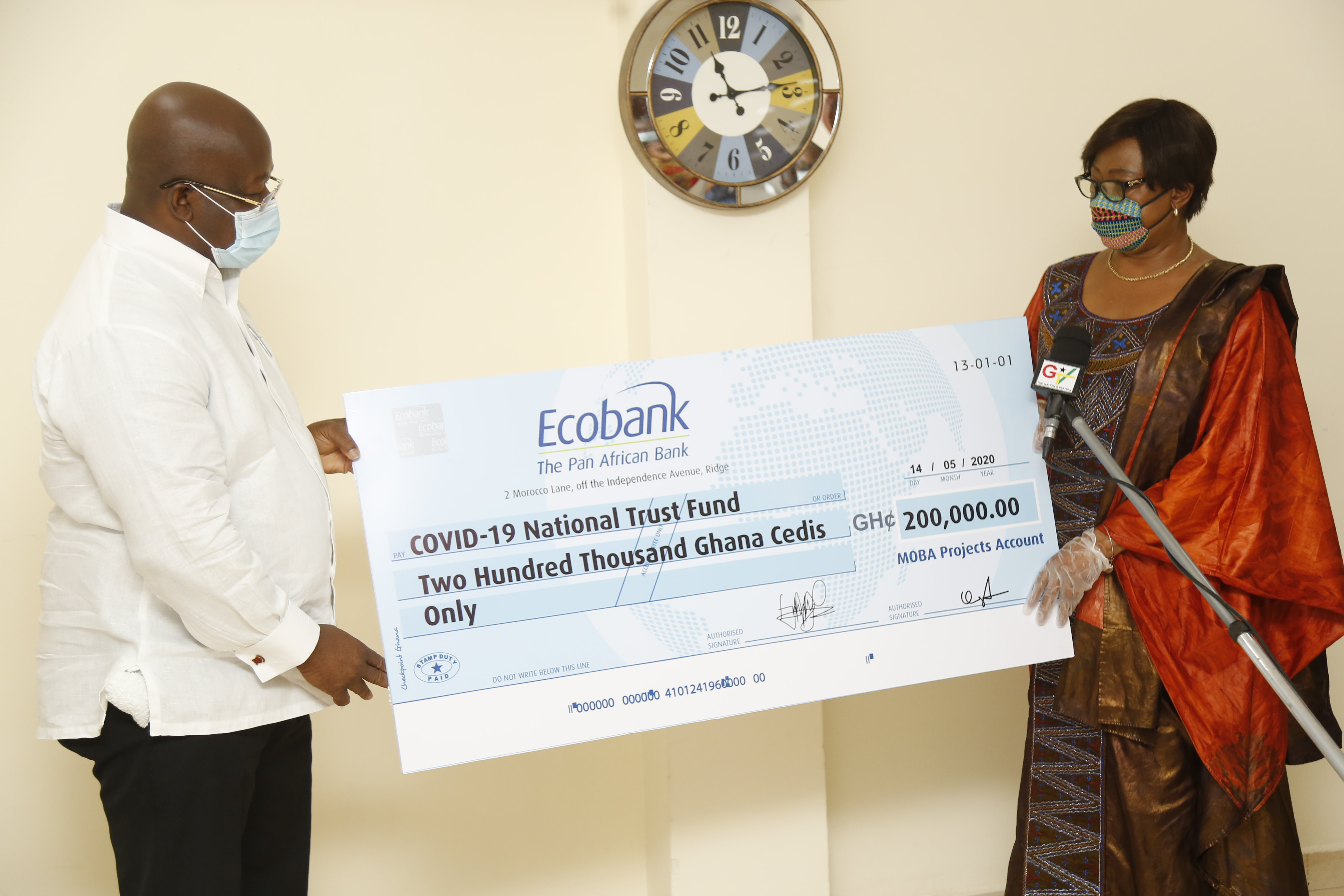MOBA Donates to COVID-19 National Trust Fund